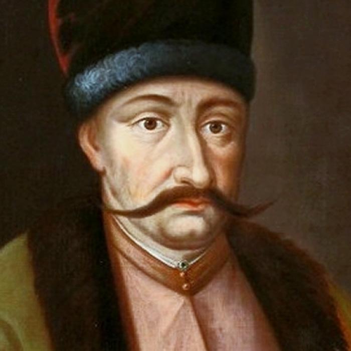 Богдан Хмельницький у турецькому костюмі, подарованому султаном Мехмедом IV, близько 1652 року