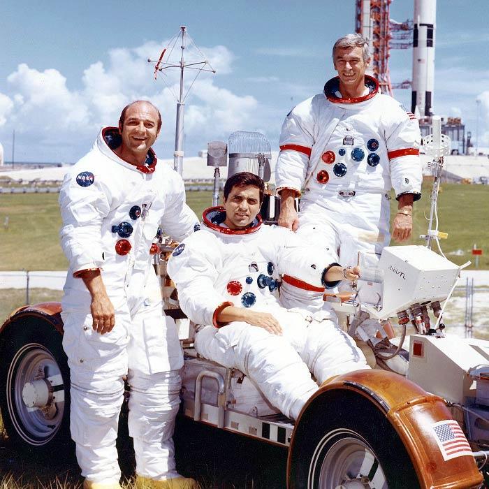 Рон Еванс, Гаррісон Шмітт і Юджин Сернан на «Місячному Ровері-3», 1972 рік