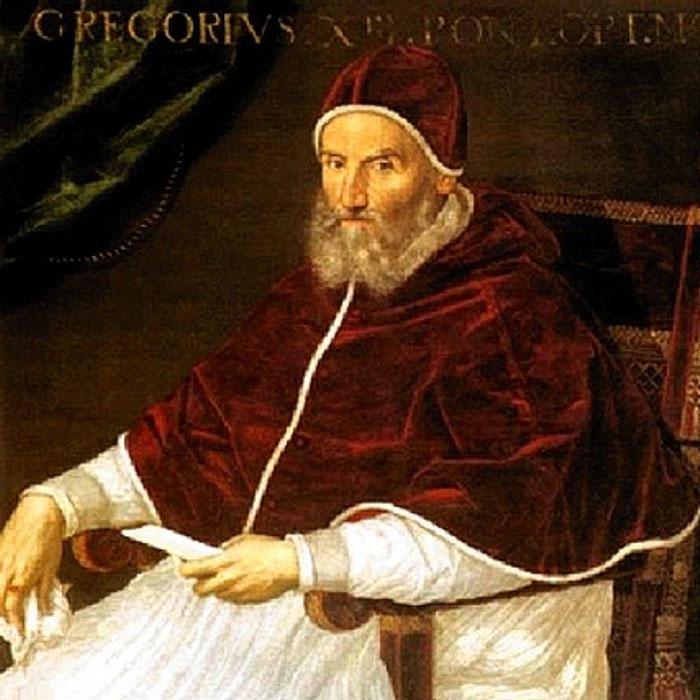 226-ий Папа Римський Григорій XIII (1502-85) на картині італійської художниці Лавінії Фонтана