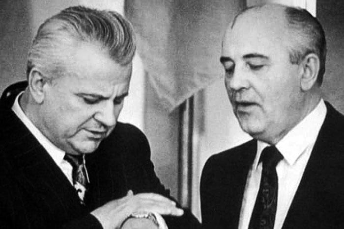 Леонід Кравчук (зліва) і Михайло Горбачов, 1990 рік © Главком