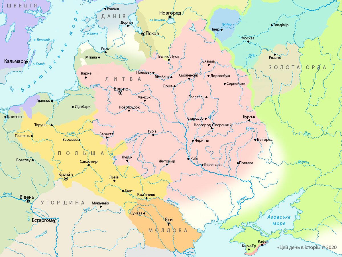 Польсько-литовська держава, 1387 рік
