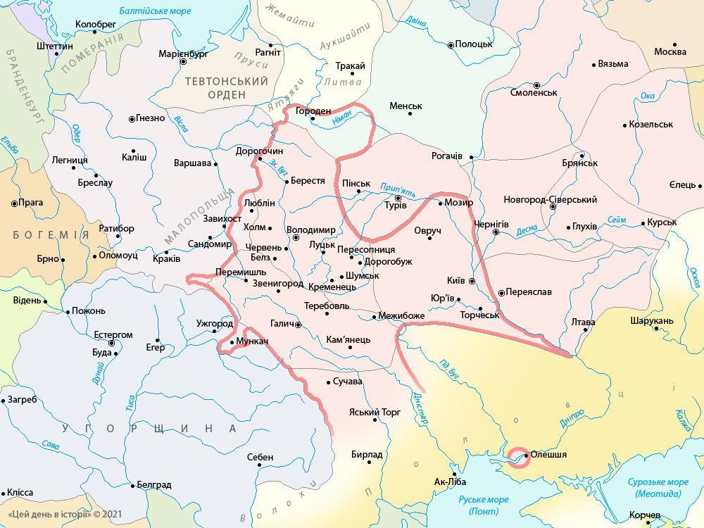 Держава Романа Великого у 1201-05 роках