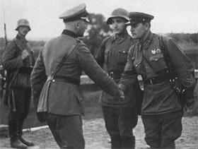 Генерал Гайнц Гудеріан і комбриг Семен Крівошєїн у Бресті