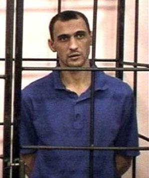Сергій Кулєв під час суду. Луганськ, квітень 2003 року
