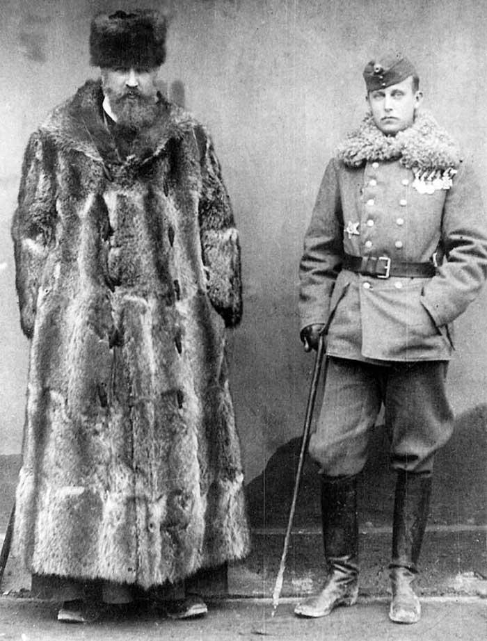 Вільгельм Габсбурґ (праворуч) і митрополит Андрей Шептицький, 1917 рік