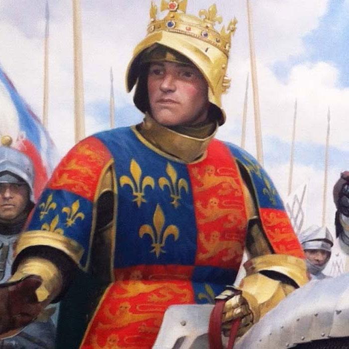 Англійські королівські герби (зліва направо): Йорки, Ланкастери і Тюдори